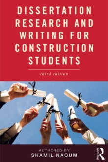Dissertation Research and Writing for Construction Students, Paperback Book