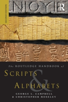 The Routledge Handbook of Scripts and Alphabets, Paperback / softback Book