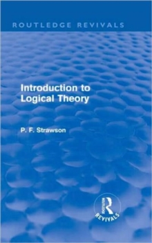 Introduction to Logical Theory, Hardback Book