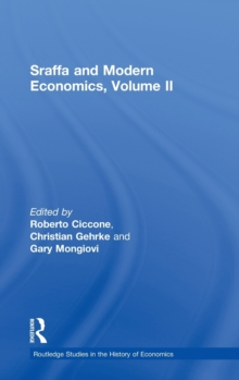 Sraffa and Modern Economics, Volume II, Hardback Book