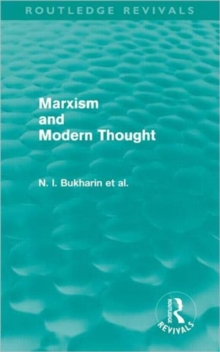 Marxism and Modern Thought, Hardback Book