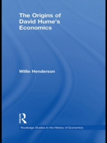 The Origins of David Hume's Economics, Hardback Book