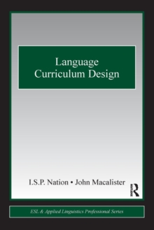 Language Curriculum Design, Paperback Book