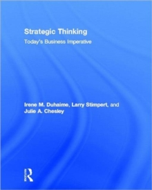Strategic Thinking : Today's Business Imperative, Hardback Book