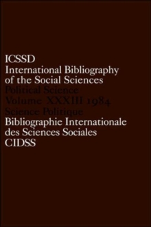 IBSS: Political Science: 1984 Volume 33, Hardback Book