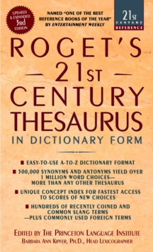 Roget's 21St Thesaurus 3Rd Edition, Paperback / softback Book