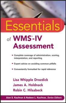 Essentials of Wms-iv Assessment, Paperback Book