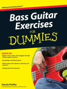 Bass Guitar Exercises for Dummies, Paperback Book