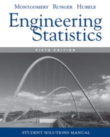 Student Solutions Manual Engineering Statistics, 5e, Paperback / softback Book