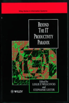 Beyond the IT Productivity Paradox : Assessment Issue, Hardback Book