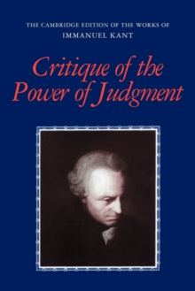 Critique of the Power of Judgment, Paperback Book