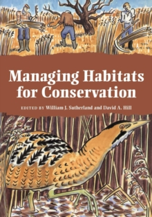Managing Habitats for Conservation, Paperback Book