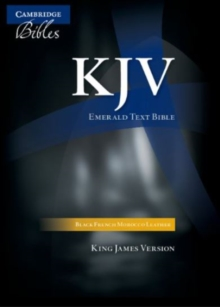 KJV Emerald Text Edition Black French Morocco Leather, Leather / fine binding Book