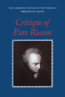 Critique of Pure Reason, Paperback Book