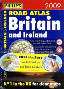 Philip's Road Atlas Britain and Ireland, Spiral bound Book