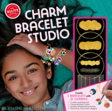 Gold Charm Bracelet Studio, Mixed media product Book