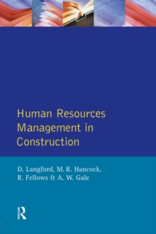 Human Resources Management in Construction, Paperback Book