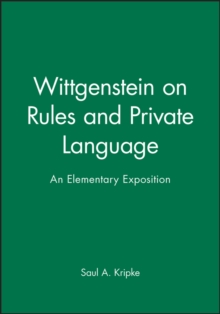 Wittgenstein on Rules and Private Language, Paperback Book