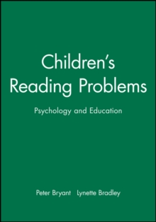 Children's Reading Problems, Paperback Book