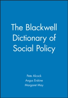 The Blackwell Dictionary of Social Policy, Paperback Book