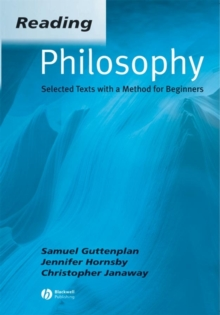 Reading Philosophy : An Introductory Text with Readers, Paperback Book