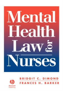 Mental Health Law for Nurses, Paperback Book