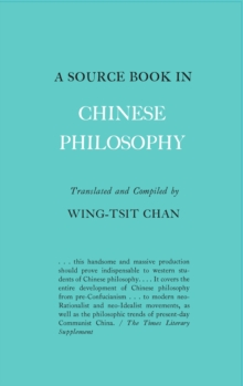 A Source Book in Chinese Philosophy, Paperback Book