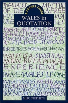 Wales in Quotation, Paperback Book
