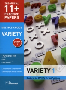 11+ Practice Papers, Variety Pack 1, Multiple Choice : English Test 1, Maths Test 1, Verbal Reasoning Test 1, Non-Verbal Reasoning Test 1, Paperback Book