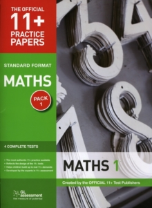 11+ Practice Papers, Maths Pack 1, Standard : Test 1, Test 2, Test 3, Test 4, Pamphlet Book