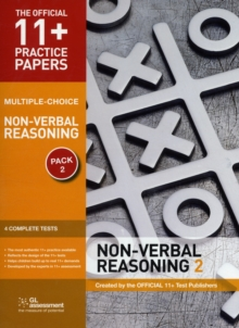 11+ Practice Papers, Non-Verbal Reasoning Pack 2 (Multiple Choice) : NVR Test 5, NVR Test 6, NVR Test 7, NVR Test 8, Pamphlet Book