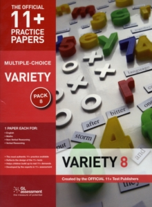 11+ Practice Papers, Variety Pack 8 (multiple Choice) : English Test 8, Maths Test 8, NVR Test 8, VR Test 8, Pamphlet Book