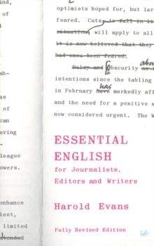 Essential English for Journalists, Editors and Writers, Paperback Book