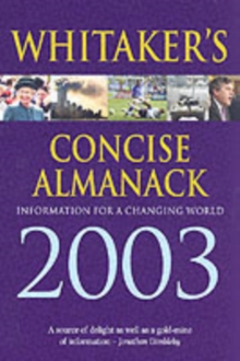 WHITAKERS ALMANACK 2003 CONCISE ED, Paperback Book