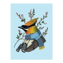 Berkley Bestiary Winter Waxwing Large Embellished Notecards, Cards Book