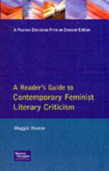 Readers Guide to Contemporary Feminist Literary Criticism, Paperback Book