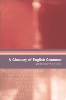A Glossary of English Grammar, Paperback Book