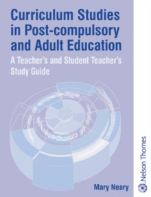 Curriculum Studies in Post-Compulsory and Adult Education, Paperback Book