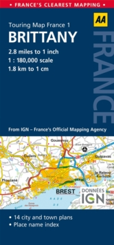 1. Brittany : AA Road Map France, Sheet map, folded Book