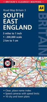 South East England Road Map, Sheet map, folded Book