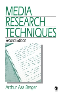 Media Research Techniques, Paperback Book