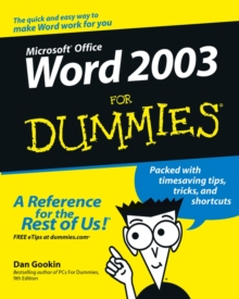 Word 2003 For Dummies, Paperback Book