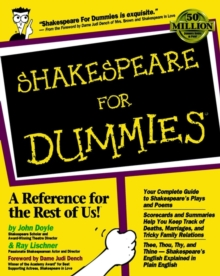 Shakespeare For Dummies, Paperback Book