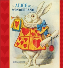 Alice in Wonderland 2017 Wall Calendar, Calendar Book