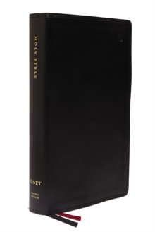 NET Bible, Single-Column Reference, Leathersoft, Black, Comfort Print : Holy Bible, Leather / fine binding Book