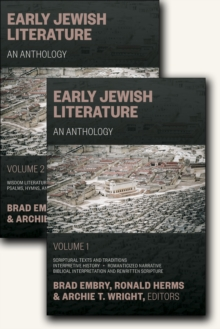 Early Jewish Literature : An Anthology, Hardback Book
