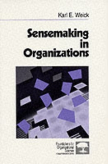 Sensemaking in Organizations, Paperback Book
