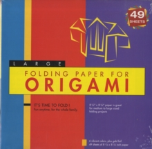 "Folding Paper for Origami - Large 8 1/4"" - 49 Sheets : Tuttle Origami Paper: High-Quality Large Origami Sheets: Instructions for 6 Projects Included, Notebook / blank book Book"