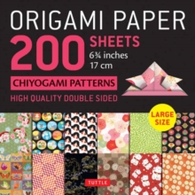 "Origami Paper 200 sheets Chiyogami Patterns 6 3/4"" (17cm) : Tuttle Origami Paper: High Quality, Double-Sided Origami Sheets with 12 Different Patterns (Instructions for 6 Projects Included), Notebook / blank book Book"