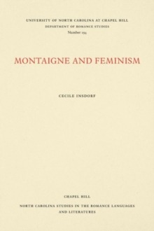 Montaigne and Feminism, Paperback / softback Book